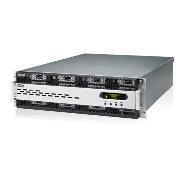 Thecus 16-Bay 3U rackmount NAS, SAS/SATA, 3.4GHz, 8GB DDR3, 3x GbE, RPS, HA
