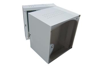 apra-optinet Závěsný rack ecoVARI PLUS 19'' 12U/600mm, dvojdílna, skleněné dveře
