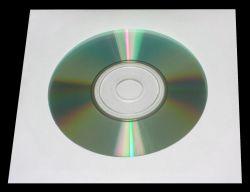 4World Obaly s okénkem na CD/DVD, papírové bez lepidla, 1000 ks