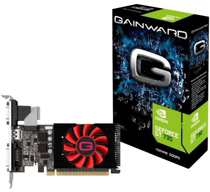 Gainward GeForce GT 730, 1GB GDDR5 (64 Bit), HDMI, DVI, VGA