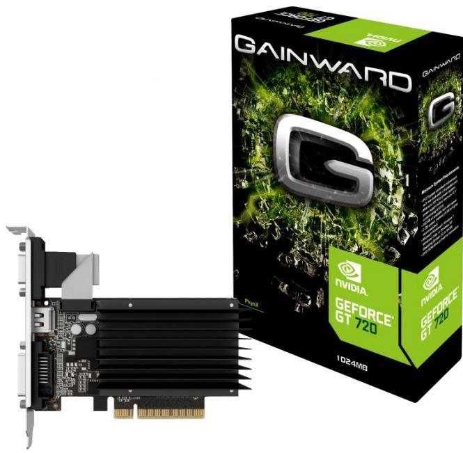 Gainward GeForce GT 720, 1GB DDR3 (64 Bit), HDMI, DVI, VGA, SilentFX