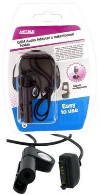 4World Audio adaptér s mikrofonem pro Nokia 9PIN 3100/3300/6230/6610/6630 E60
