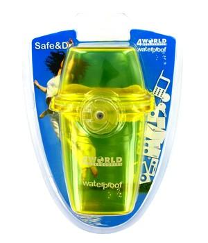 """4World Vodotěsné pouzdro pro telefony GSM a přehrávače MP3 """"šálek"""" barva žlutá"""