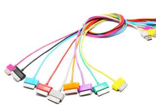 4World Kabel USB 2.0 pro Galaxy Tab přenos dat/nabíjení 1.0m bílý