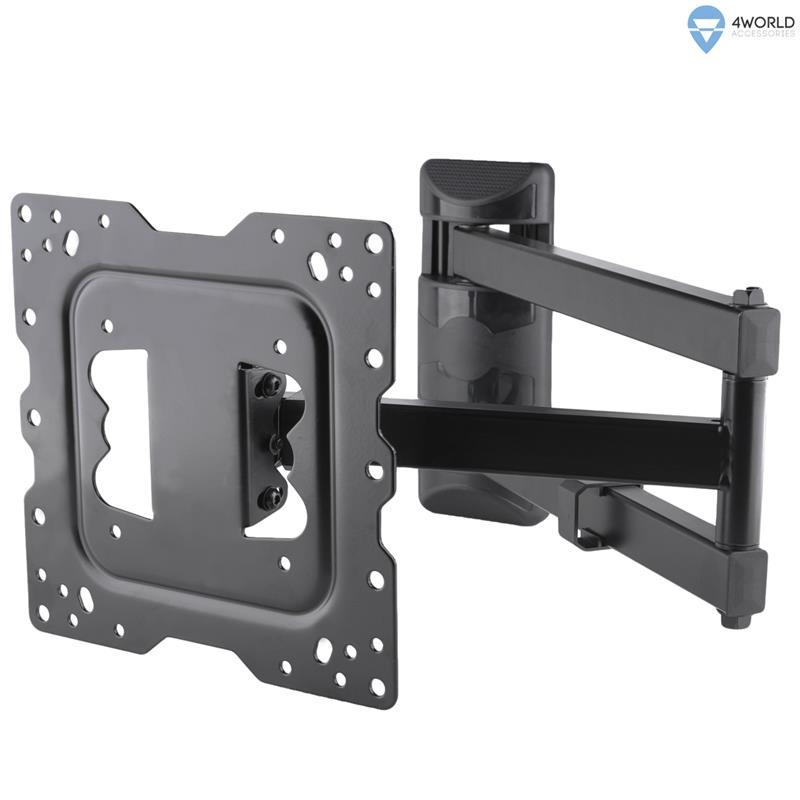 4World Otočný a sklopný držák pro LCD 15''-37'' nosnost max.40kg BLK