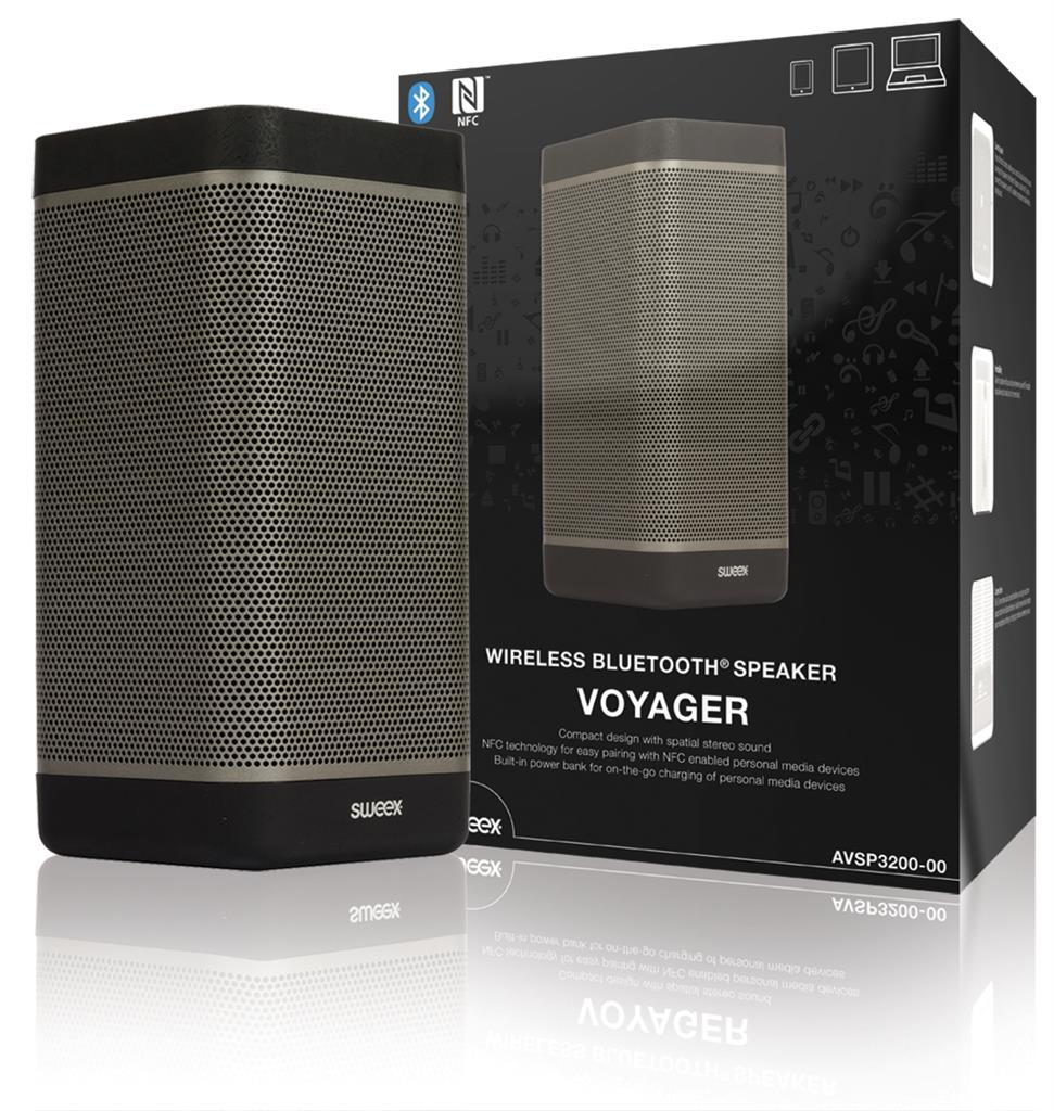 Sweex bezdrátový reproduktor Voyager BT 3.0, NFC, 20W černý