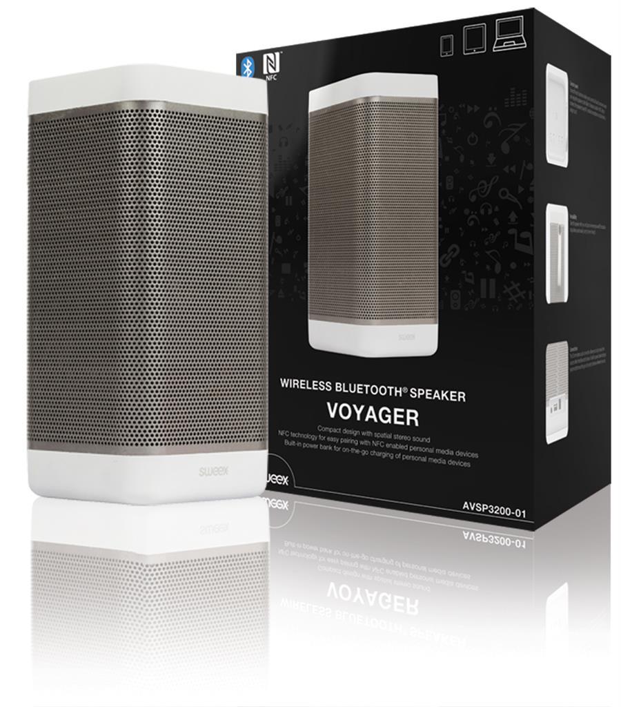 Sweex bezdrátový reproduktor Voyager BT 3.0, NFC, 20W bílý