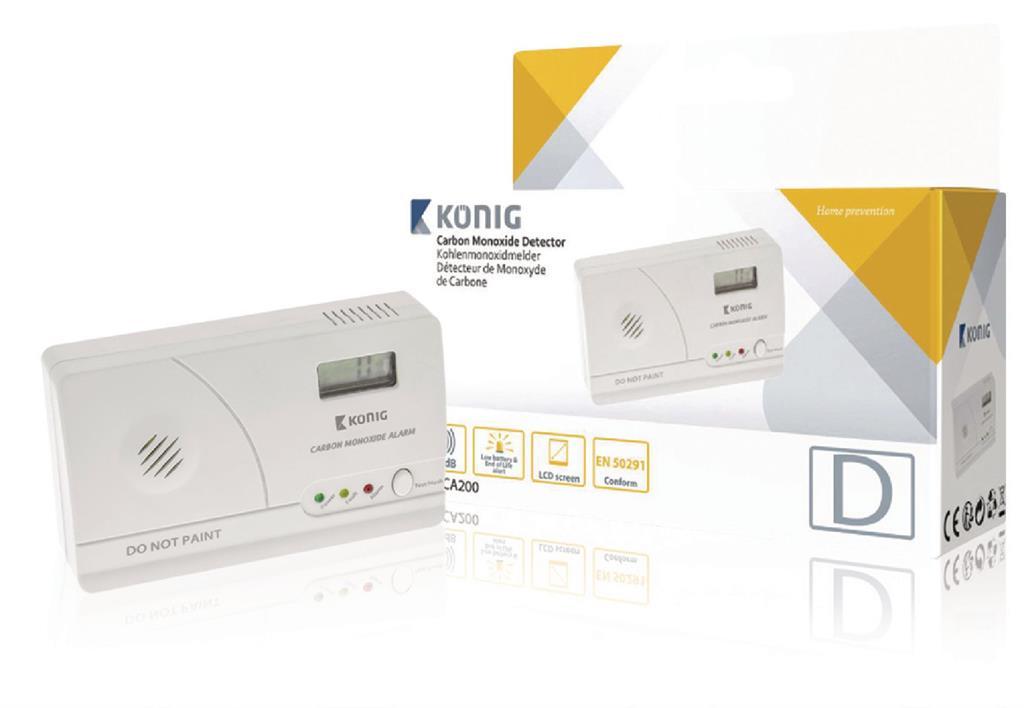 König detektor oxidu uhelnatého EN50291 s LCD displejem