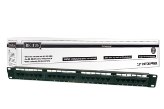 Patch panel Digitus 19'' 24 portů UTP CAT5e, 15 LGW