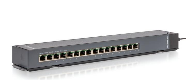 Netgear ProSafe Plus CLICK 16-Port Gigabit Switch Metal (GSS116E)