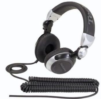 DJ sluchátka Panasonic RP-DJ1210E-S, stříbrná - CZ distribuce