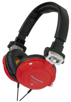 DJ sluchátka Panasonic RP-DJS400AER, červeno-černá - CZ distribuce