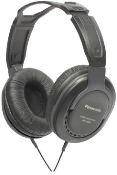 Monitorovací sluchátka Panasonic RP-HT265E-K, černá - CZ distribuce