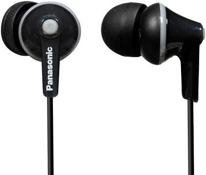 Sluchátka Panasonic RP-HJE125E-K, černá - CZ distribuce