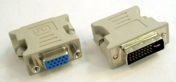 Gembird redukce DVI-A (24pin) male - VGA HD (15pin) HD female
