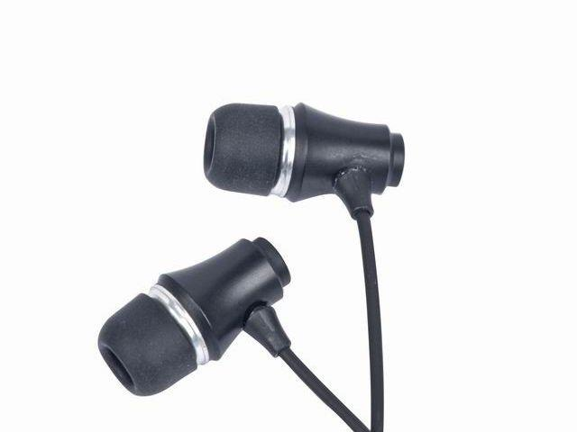 Gembird Stereo sluchátka MP3, pozlacený 3.5mm Jack, kov, černá barva