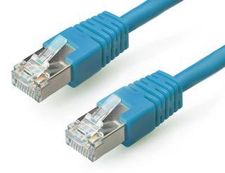 Gembird Patch kabel RJ45 , cat. 6, FTP, 0.5m, modrý