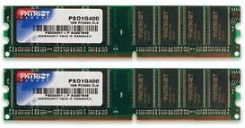 Patriot 2GB (Kit 2x1GB) 400MHz DDR CL3 DIMM