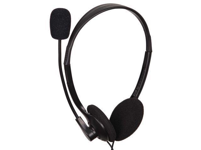 Gembird stereo sluchátka s mikrofonem a regulací hlasitosti MHS-123, černé