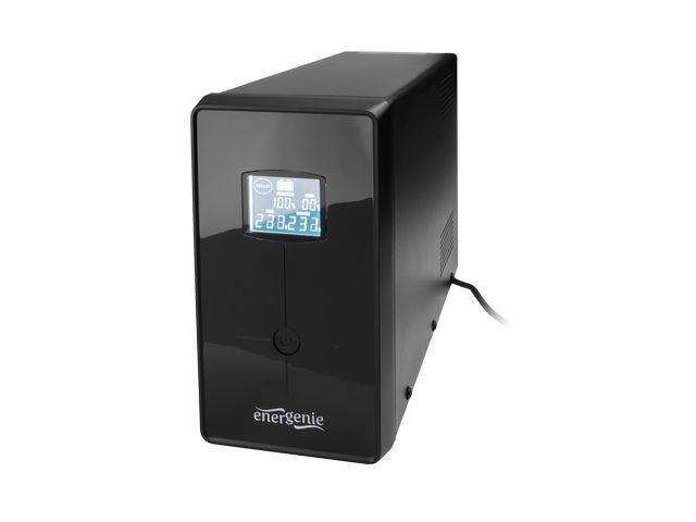UPS Energenie-Gembird Line-Interactive,1500VA,3xIEC,2xSchuko 230V,USB,RJ11,LCD