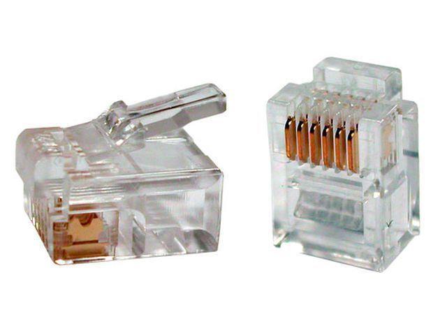 Gembird modulární telefonní konektor RJ-12 (100 ks) MP-6P6C