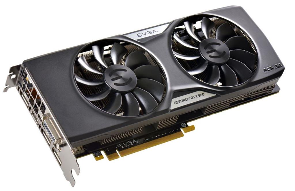 EVGA GeForce GTX 960 SuperSC ACX 2.0+, 2GB GDDR5 (128 Bit), HDMI, DVI, 3xDP