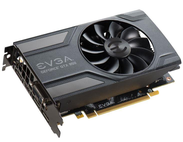 EVGA GeForce GTX 950 Superclocked, 2GB GDDR5 (128 Bit), HDMI, DVI, 3xDP