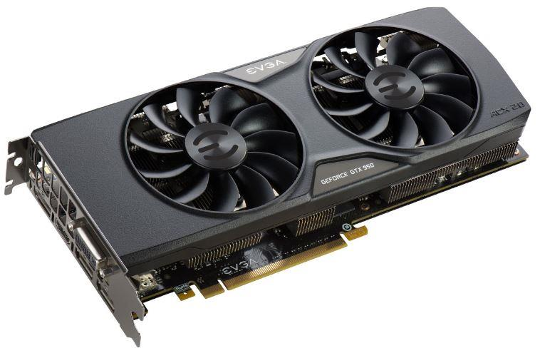 EVGA GeForce GTX 950 FTW ACX 2.0, 2GB GDDR5 (128 Bit), HDMI, DVI, 3xDP