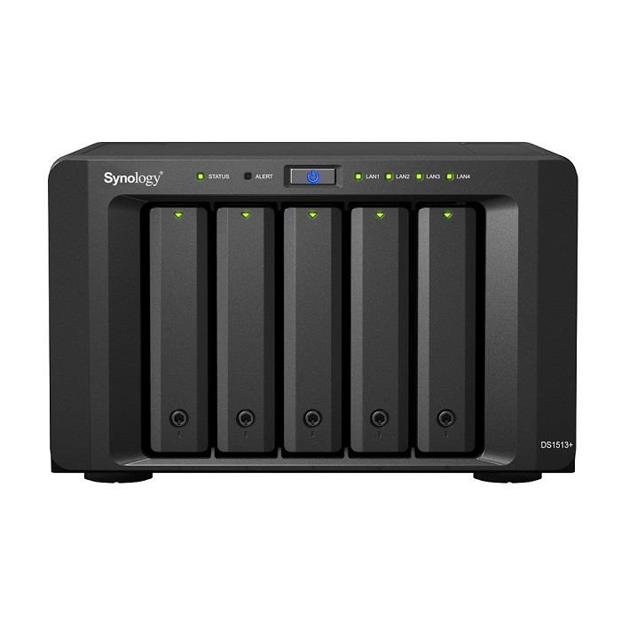 Synology DS1515+, 5-Bay, 2,4GHz, 2GB, 4x Glan, 4x USB, 2x eSATA