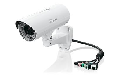 3Mpx venkovní kamera PoE, auto focus, IR LED, IP66, SD Card, 2048x1536@25fps
