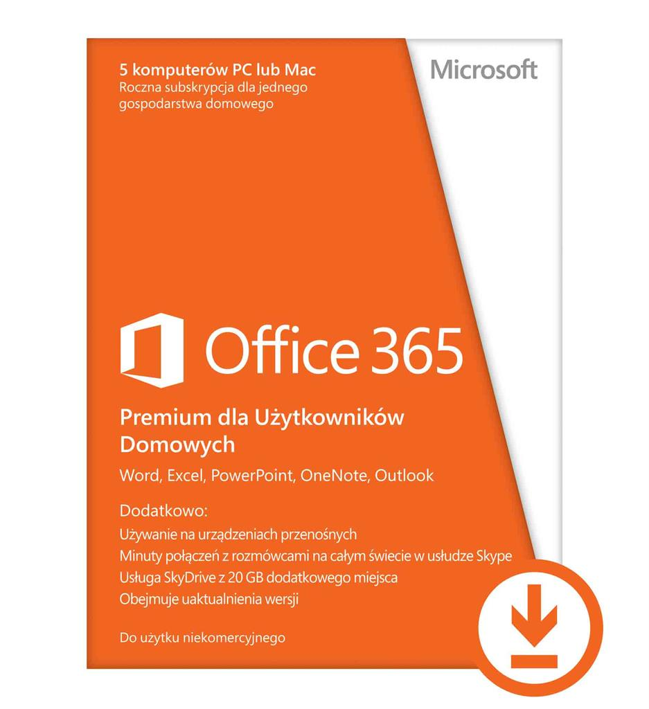 Microsoft Office 365 Home Premium, 1 Year Subscription - ESD