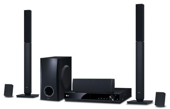 LG domácí kino, DVD, 5.1, 330W, nahrávání na USB