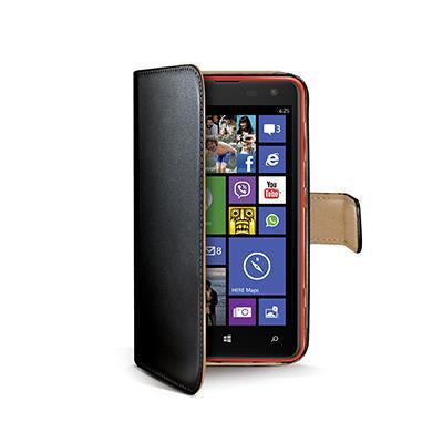 Celly WALLY pouzdro pro Nokia Lumia 625, eko kůže, černé