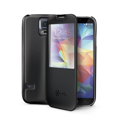 Celly VISTA pouzdro pro Samsung SM-G900F Galaxy S5, aktivní okno, černé