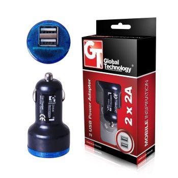 GT Nabíječka do auta, 2x USB | 2A, černá