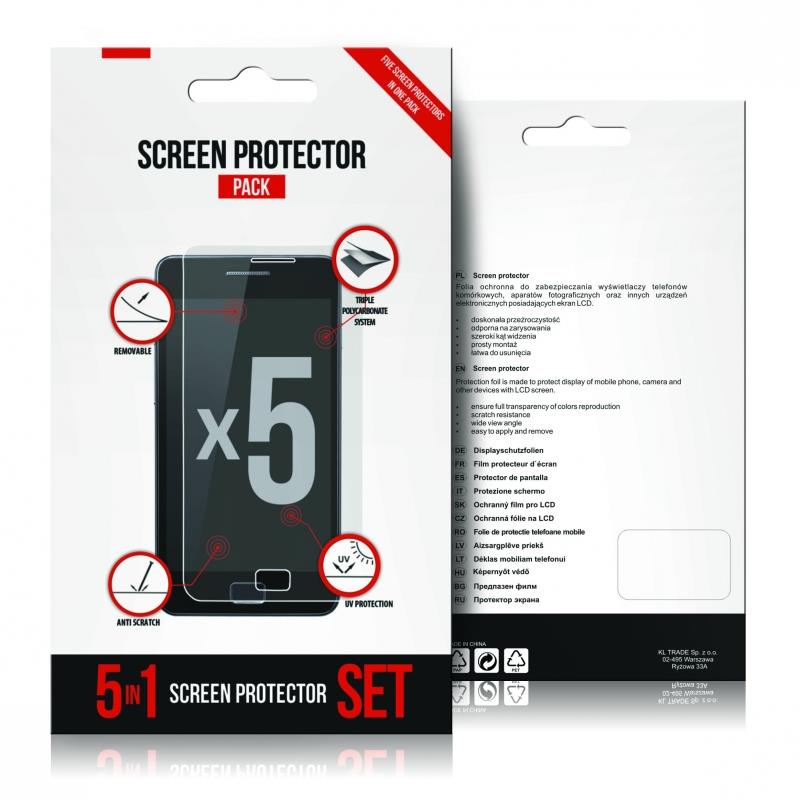 GT ochranná folie pro Samsung I9500 Galaxy S4   5-pack