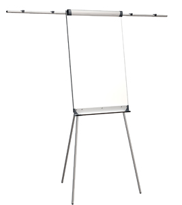 2x3 Flipchart Eurochart - statický, magnetická tabule 66x100cm, výška 186cm