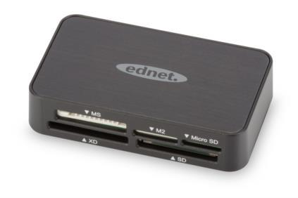EDNET USB2.0 multi card reader ''All-in-one'', black