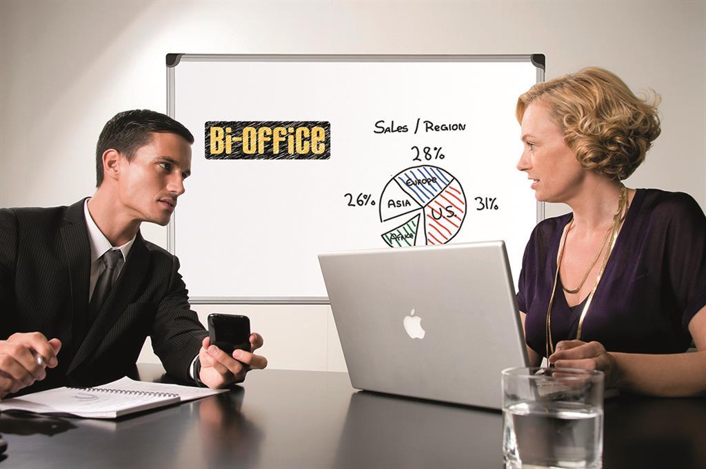 Mazatelná magnetická tabule , BI-Office Professional, 60x45cm, prosklené, hliník