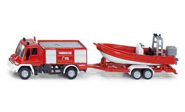 Siku series 16 fire truck Unimog with boat