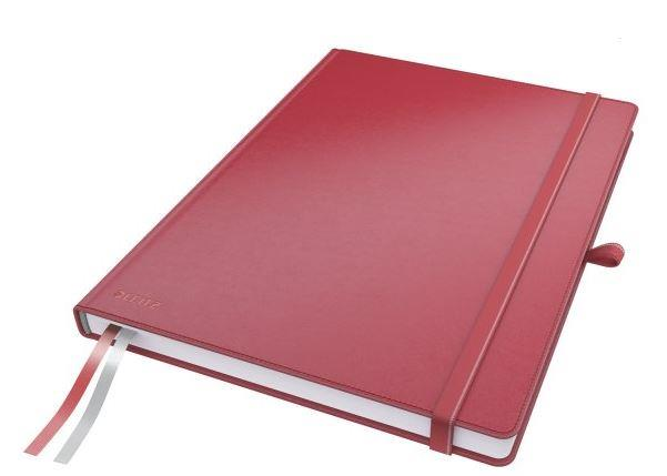 Notebook: Leitz Complete A4, lined paper, red