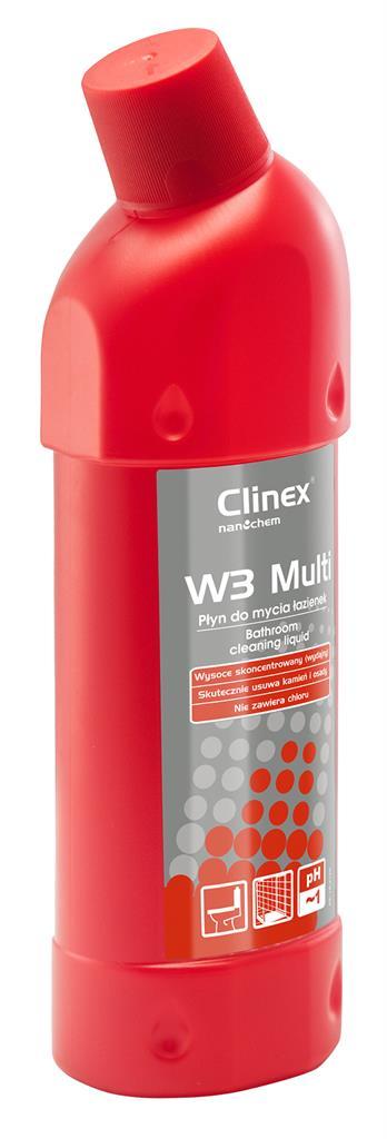 Čištění chemické CLINEX W3 více 77-076, pro WC a úklid koupelny, koncentrovaný