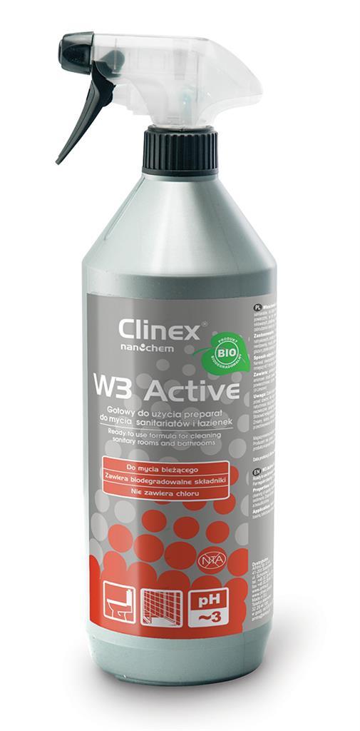 Čištění chemické CLINEX W3 Aktivní BIO 77-512, pro WC a koupelna úklid