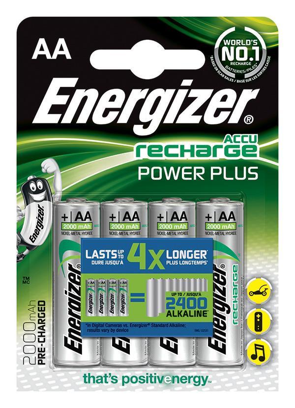 Dobíjecí baterie, ENERGIZER Power Plus, AA, HR6, 1.2V, 2000mAh, 4 kusy