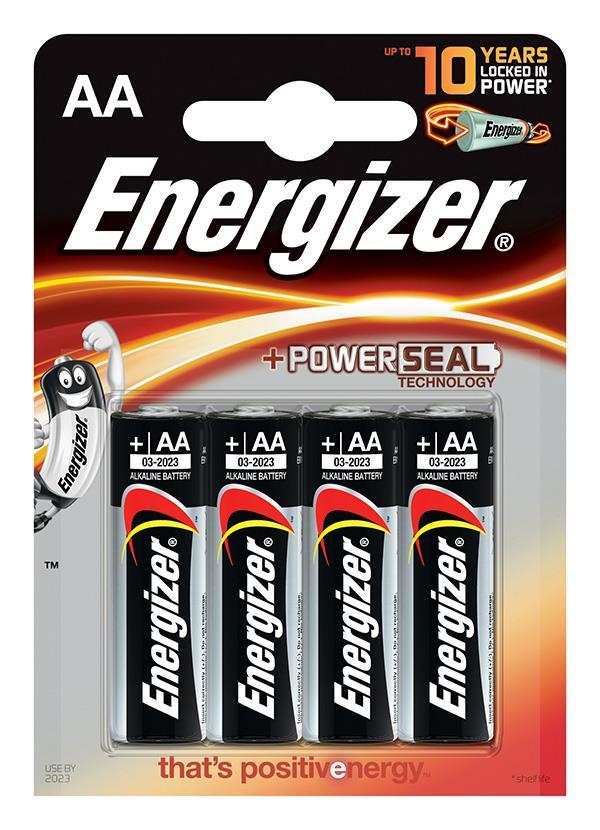 Baterie, ENERGIZER Základna Power Seal, AA, LR6, 1.5V, 4 ks