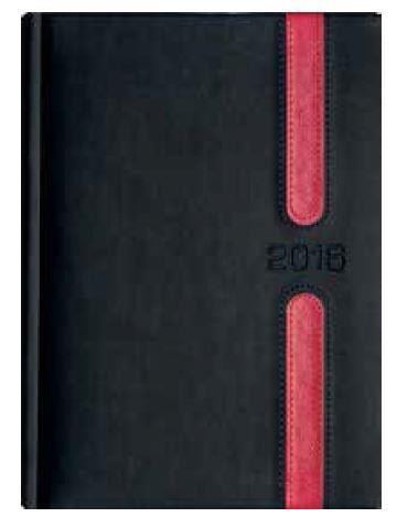 Kalendarz Książkowy B5 Lux Okładka 09 -L2 Grafit/Czerwony