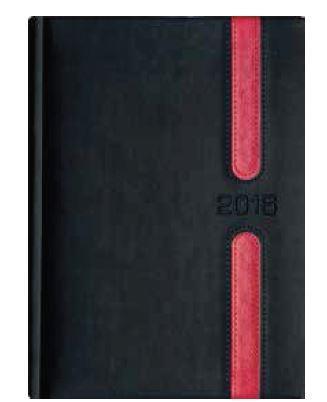 Kalendarz Książkowy B6 Lux Okładka 09 -L4 Grafit/Czerwony