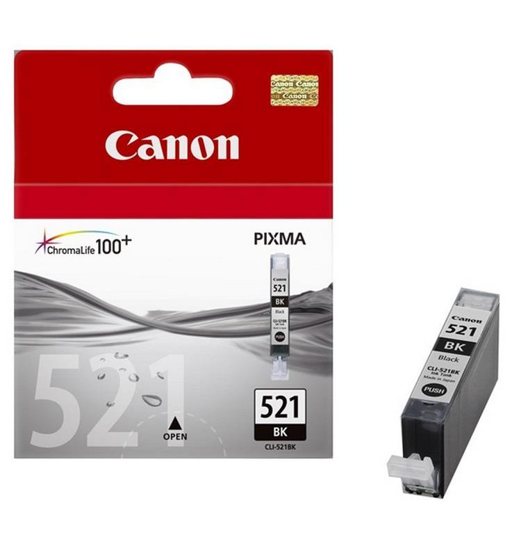 Inkoust Canon CLI521BK černý | iP3600/iP4600/MP540/MP620/MP630/MP980