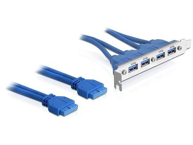 Delock zadní panel USB 3.0 x4