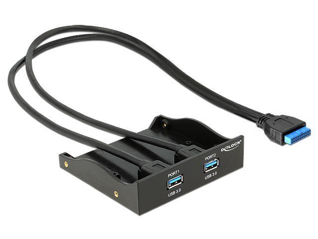 Delock USB 3.0 Front Panel 2-Port with internal 19 pin USB 3.0 PIN